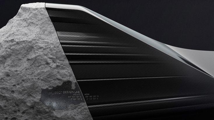 peugeot design lab crafts ONYX sofa with volcanic lava and carbon fiber - designboom   architecture & design magazine
