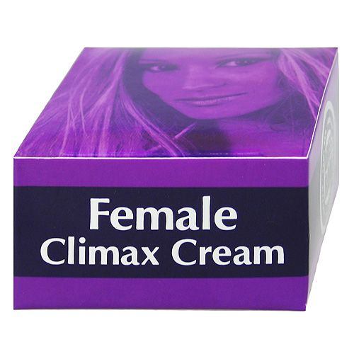 There are female climax creams available in the market that helps to arouse and lubricate while lovemaking to achieve climax.