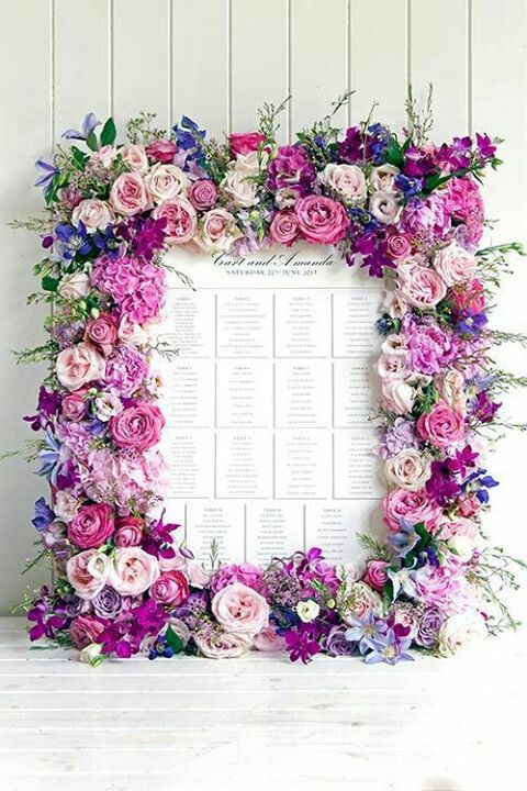 Escort cards display--Florals by Phillipa Craddock Flowers