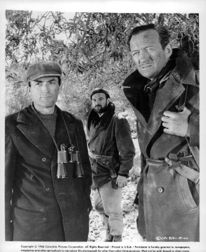 David Niven, Gregory Peck, and Stanley Baker in The Guns of Navarone (1961)