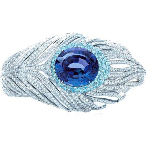 Tiffany & Co. Tanzanite and diamond Peacock Bracelet