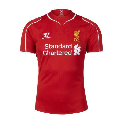 LFC Home Shirt 14/15 / Really crushing on this jersey right now. Hoping to buy one with Steven's name and number on it! <3