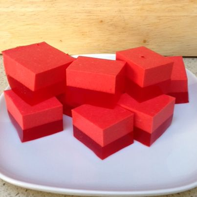 two layer finger jello low carb dessert