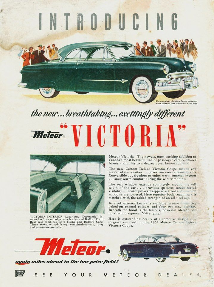 This ad shows the considerable difference in trim between the Meteor Victoria and the U.S. Ford · Full NameOld CarsVintage ...  sc 1 st  Pinterest & 390 best Ford images on Pinterest | Vintage cars Antique cars and ... markmcfarlin.com