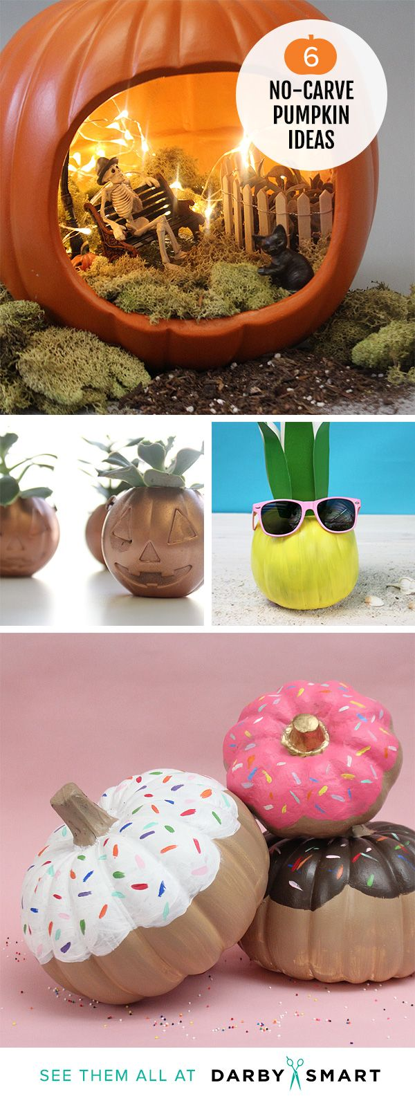 25 best ideas about pumpkin decorating on pinterest for Simple pumpkin centerpieces