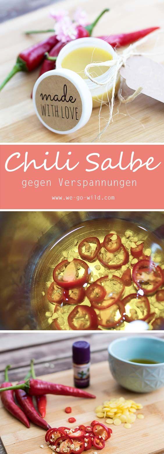 Chili Salbe selber machen! Chili Creme ist ein tolles Hausmittel gegen Verspannungen und Muskelkater. Wir zeigen euch wie ihr im Handumdrehen eine  Chili Salbe herstellen könnt.