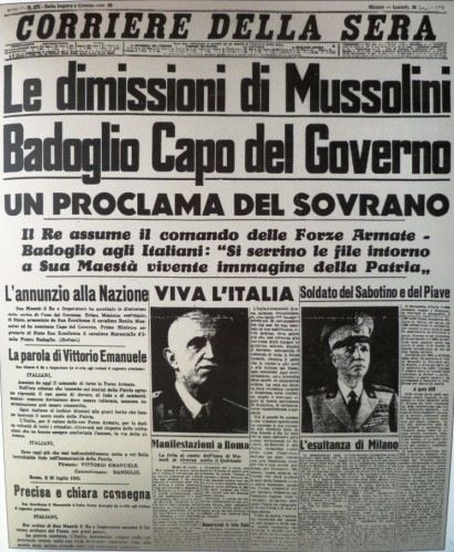 Dimissioni di Mussolini