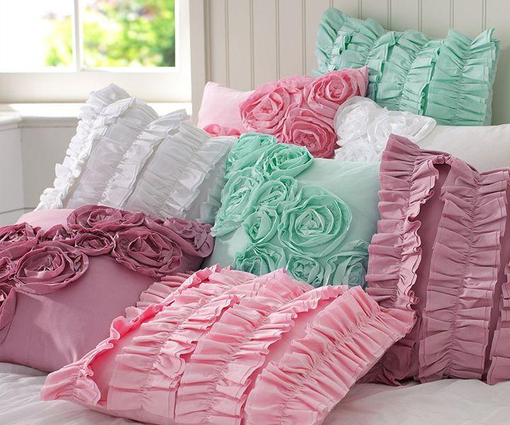 Cute Ruffle & Rose Pillows ♥ Симпатични възглавнички с къдрички и рози