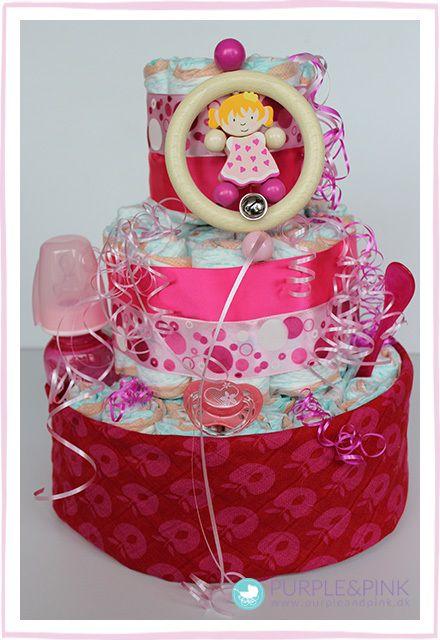Pige Diaper Cake - til den lille ny prinsesse
