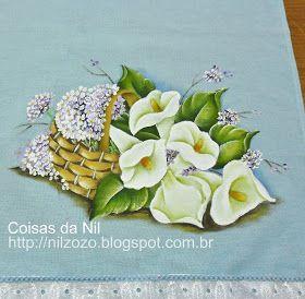 http://nilzozo.blogspot.com/2013/03/pintura-em-tecido-cesta-com-copos-de-leite-e-hortensias.html
