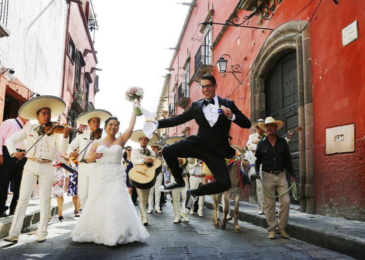Our Wedding In San Miguel De Allende Callejoneada Pinterest And