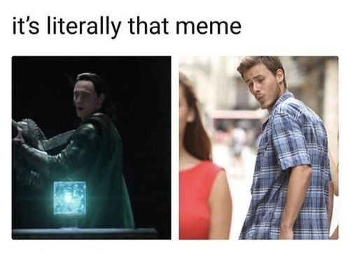 Lololol Loki and the tesseract: literally that meme
