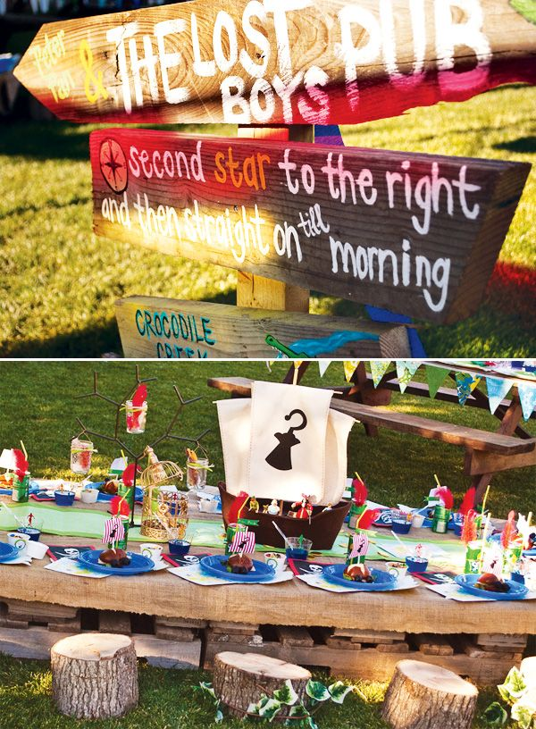 Magical Peter Pan Party {4th Birthday} // Hostess with the Mostess® Fantastic details and good party game ideas!