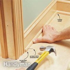 how to make crisp, sharp corners and tight joints when installing door trim, window trim and a three-piece baseboard | with a few basic carpentry tools and a little patience, you can trim out a room in a weekend | with a little practice you can master the two key trim techniques, mitering and coping