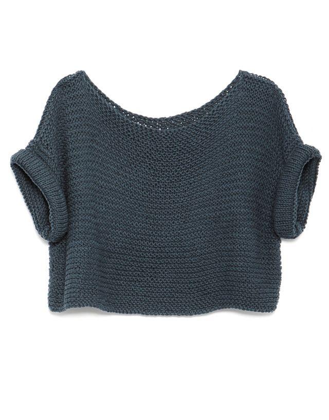 Top, easy to knit. No tutorial included.  Køb tøj el. Opskrifter online