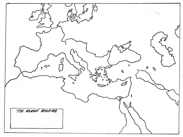 blank map of roman empire