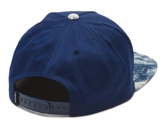 Full Patch Peacoat Acid Wash Snapback Cap