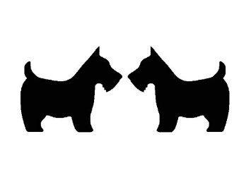 Chien terrier écossais pochoir Shabby Chic rustique scot en Mylar A4 297 x 210 mm Décoration Murale design 3: Amazon.fr: Bricolage