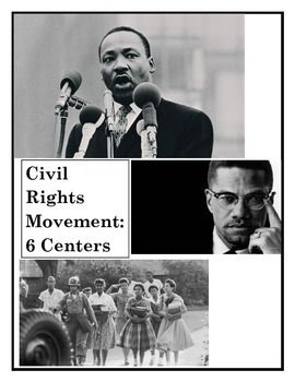 6 Centers to teach the Civil Rights Movement in the 1960's