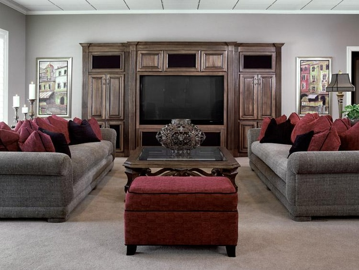 The Lower Level Of This Home Is Meant For Entertaining And Watching  Football Games. Textured