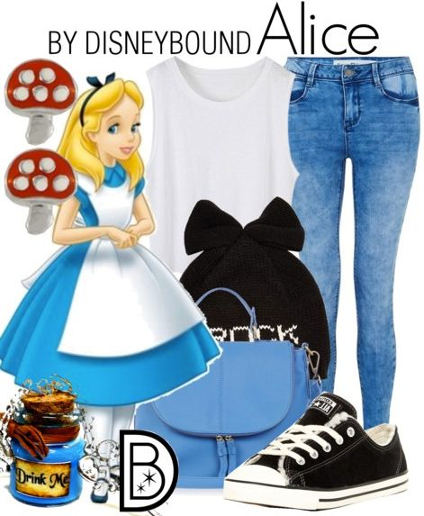 Alice in Wonderland is one of my favorites, and I love this casual look | Disney Fashion | Disney Fashion Outfits | Disney Outfits | Disney Outfits Ideas | Disneybound Outfits |