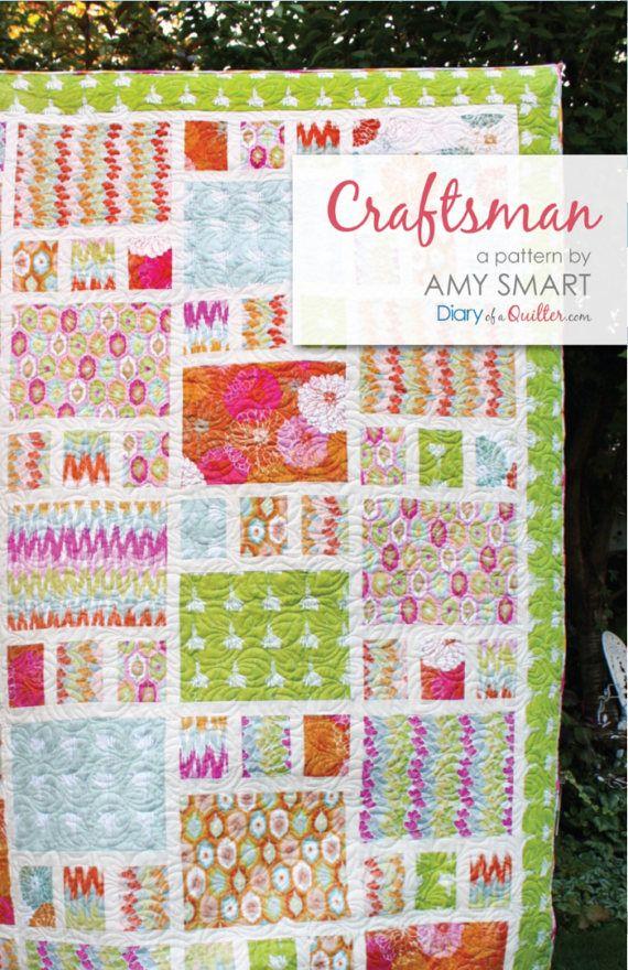 Craftsman Quilt Pattern  Fat Quarter Friendly Pattern