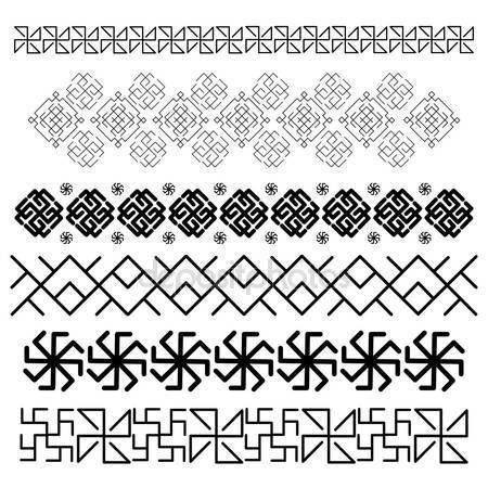 Pobieraj - Słowiańskie ozdoby — Ilustracja stockowa #75045819