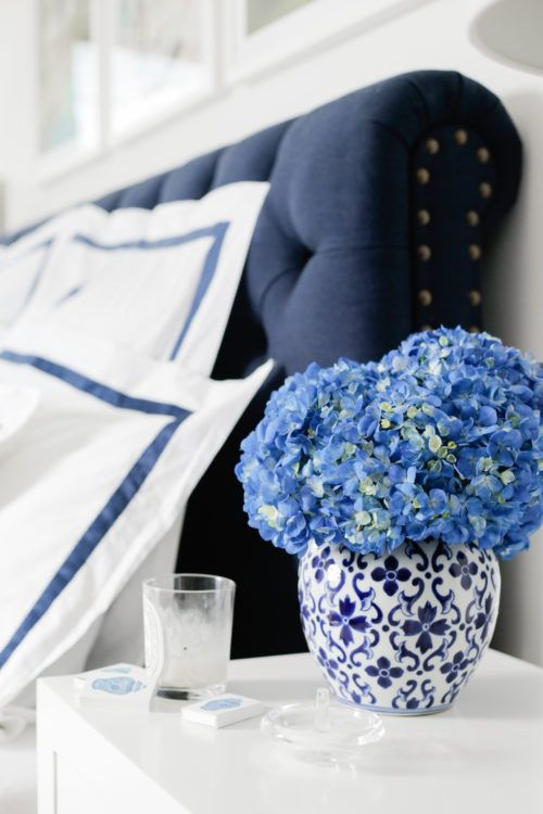 Monogrammed Navy Bedding // Design Darling