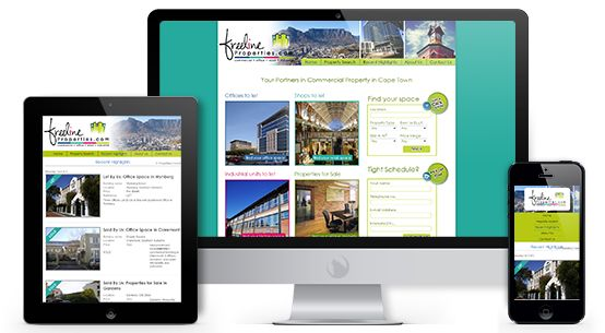 Web design and development for Freeline Properties - your choice when it comes to commercial property or office space in Cape Town.  #webdesign #property #officespace #mobile