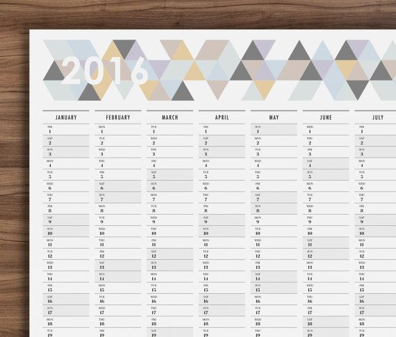 Practical but very stylish, this giant full year wall planner provides the perfect way to plan ahead for 2016.
