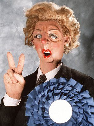 Caricature: A star of television satire Spitting Image says he was inspired by Mrs Thatcher as Prime Minister.