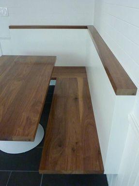 custom made walnut kitchen corner bench and table. beautiful ideas. Home Design Ideas