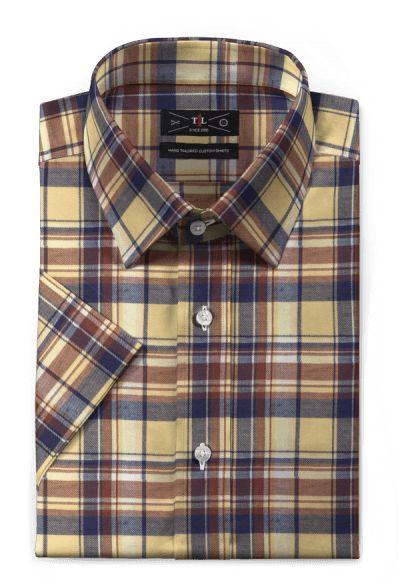 Yellow short sleeved checked linen Shirt https://www.hockerty.com/en-us/men/shirts/1680-yellow-short-sleeved-checked-linen-shirt