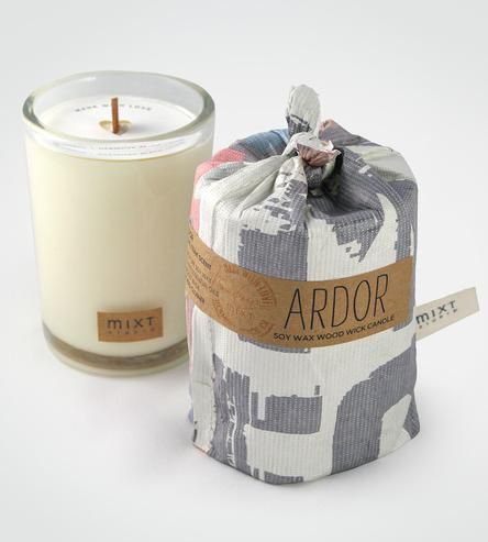 Ardor Teak Wood Scented Soy Candle by MIXT Studio on Scoutmob Shoppe