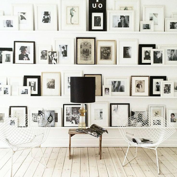 Fotowand zu hause gestalten tipps und 25 kreative ideen