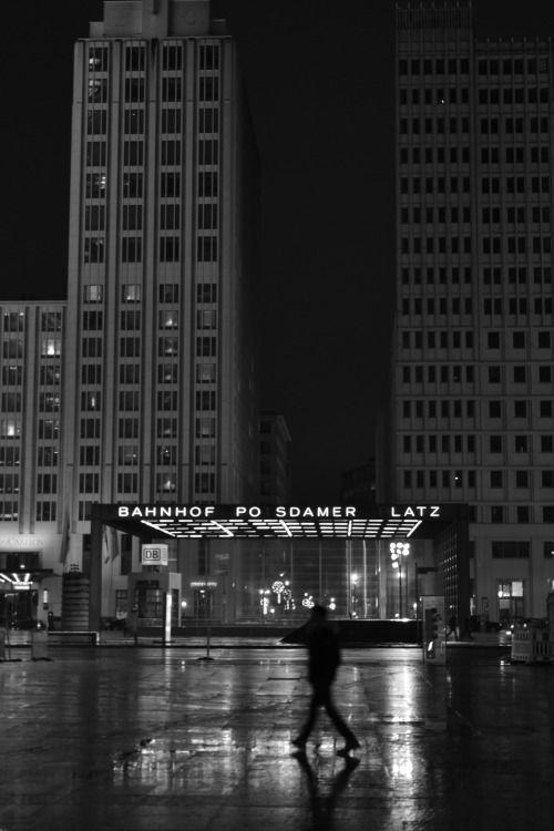 Potsdamer Platz at night, Berlin, Germany