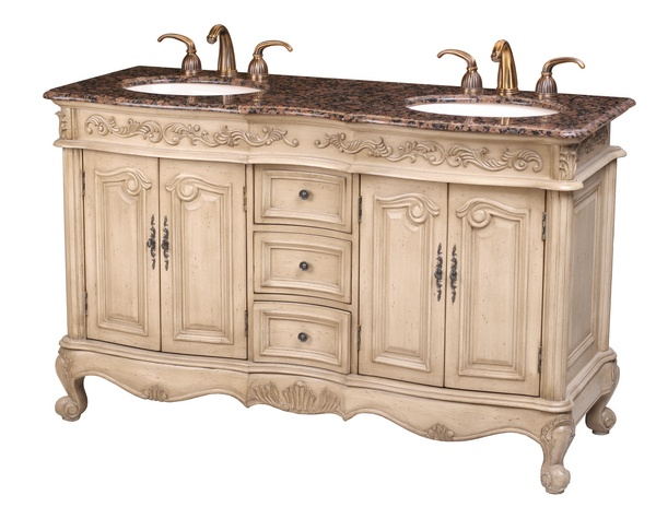 Elizabeth Double Sink Vanity With Baltic Brown Granite Top Bathroom Pinterest Brown