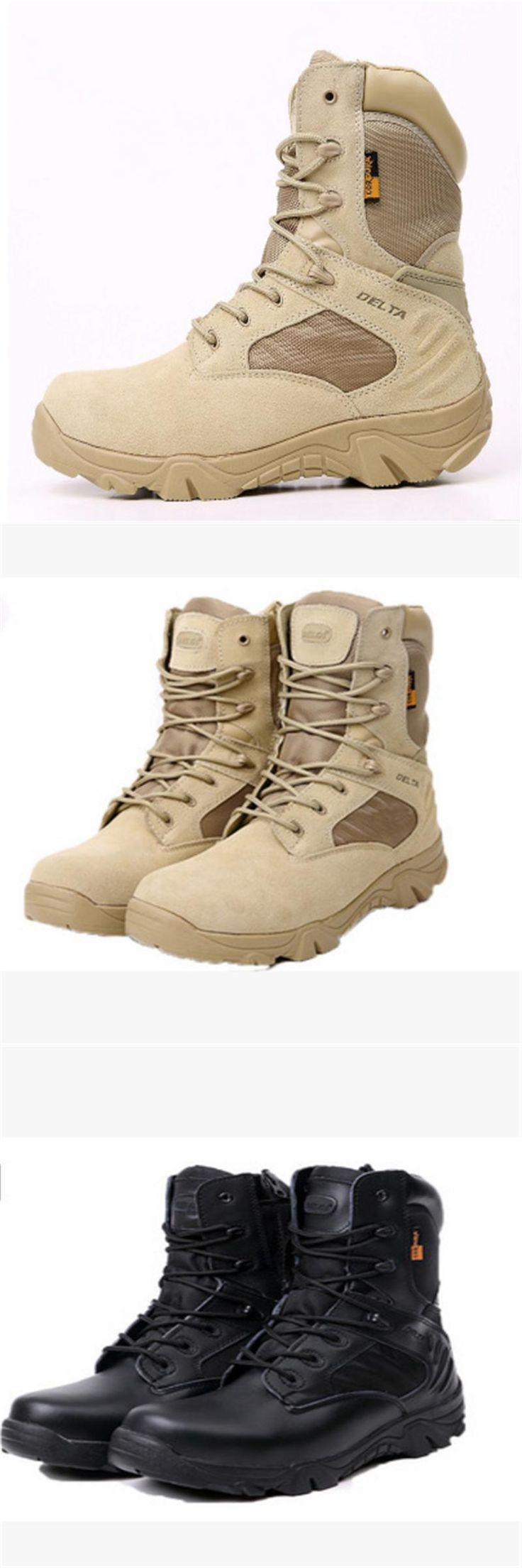 [Visit to Buy] 2017 Winter outdoor military boots men's special forces combat boots tactical boots desert boots Delta high to help wear militar #Advertisement