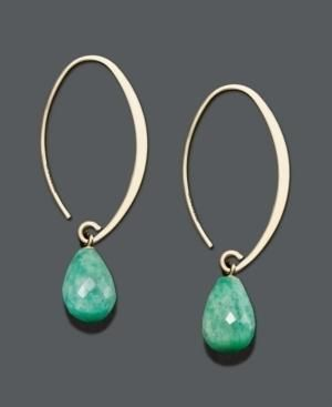 simple but elegant silver oval loops with turquoise drops