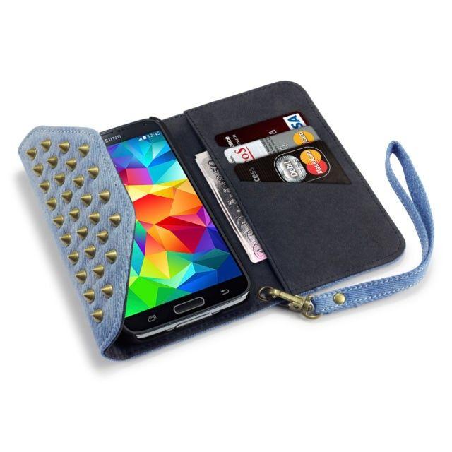 Terrapin Punk Spike Θήκη Πορτοφόλι (117-002-683) Jeans (Galaxy S5) - myThiki.gr - Θήκες Κινητών-Αξεσουάρ για Smartphones και Tablets - Punk Spike Wallet