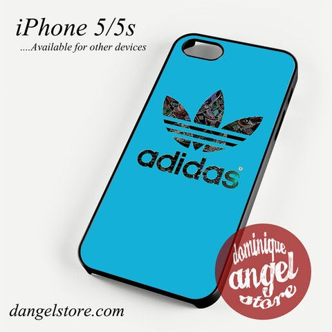 Adidas in blue screen Phone Case for iPhone 4/4s/5/5c/5s/6/6s/6 Plus