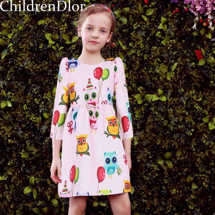 Princess Dress Girls Clothes 2017 Brand Spring Girls Costume for Kids Party Dresses with Animal Pattern Roupas Infantis Menina #Affiliate