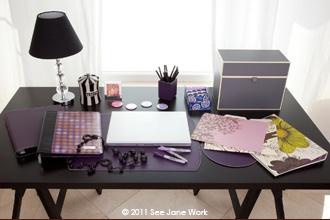 A beautifully organized desk inspires creativity.