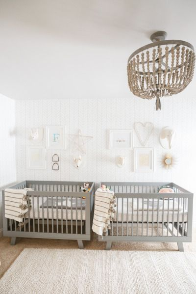 Boy/girl twins nursery: http://www.stylemepretty.com/living/2015/05/04/a-gender-neutral-nursery-for-twins/ | Photography: Conrhod Zonio - http://www.conrhodzonio.com/
