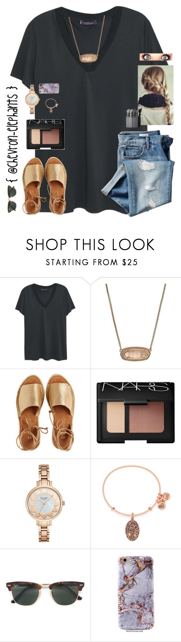 """On da way to CAROWINNNDDDSSSS!!!"" by chevron-elephants ❤ liked on Polyvore featuring Violeta by Mango, Kendra Scott, Kaanas, NARS Cosmetics, Kate Spade, Alex and Ani, Gap, Ray-Ban and Emi-Jay"