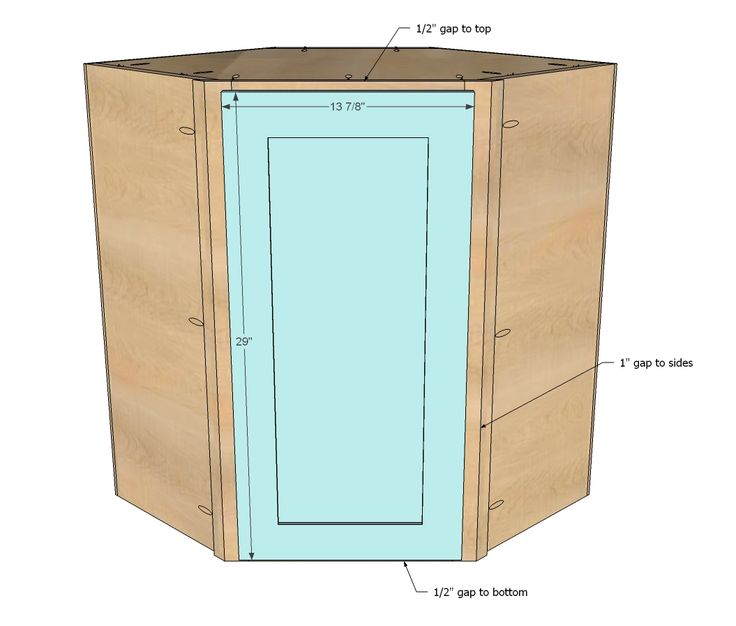 Cabinet Plans Ana White | Build a Wall Kitchen Corner Cabinet | Free and Easy DIY Project and ...