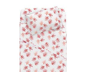 Completo letto singolo in percalle rosso - Coralli