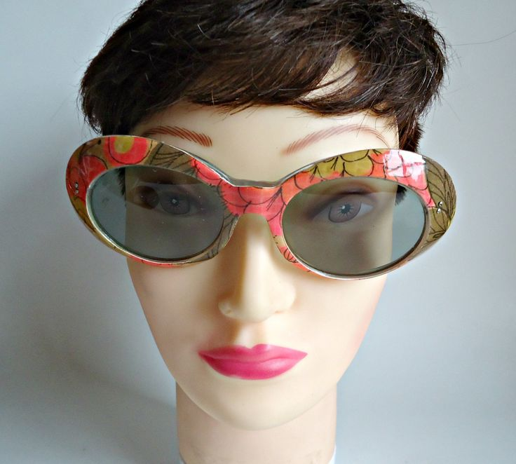Vintage Sunglasses Groovy 1960's Lucite Eyewear France Retro by treasurecoveally on Etsy