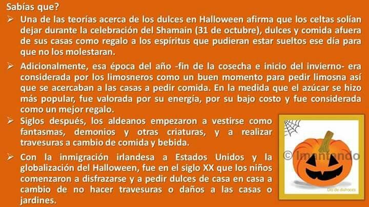 Próximos al 31 de octubre #DíaDeDisfraces, seguimos dando respuesta a las preguntas que los #niños suelen hacer: por qué se celebra? por qué los disfraces y la decoración?. Hoy les podremos explicar el por qué se dan dulces. #nochedebrujas, #Halloween