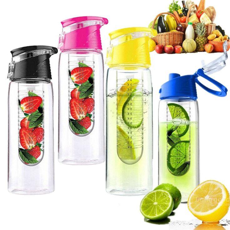 Water Bottle You Put Fruit In: 800ML Fruit Juice Infusing Infuser Water Bottle Sport